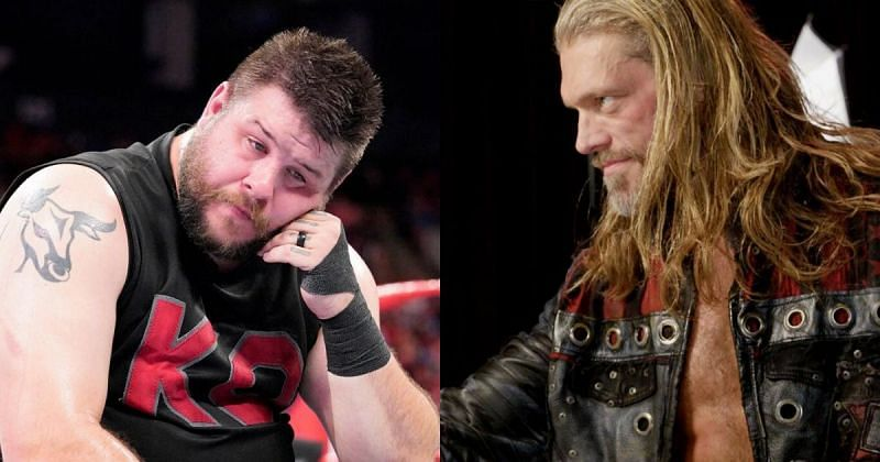 Kevin Owens and Edge.