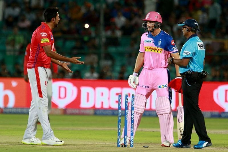 Jos Buttler and Ravi Ashwin were involved in a heated exchange in IPL 2019