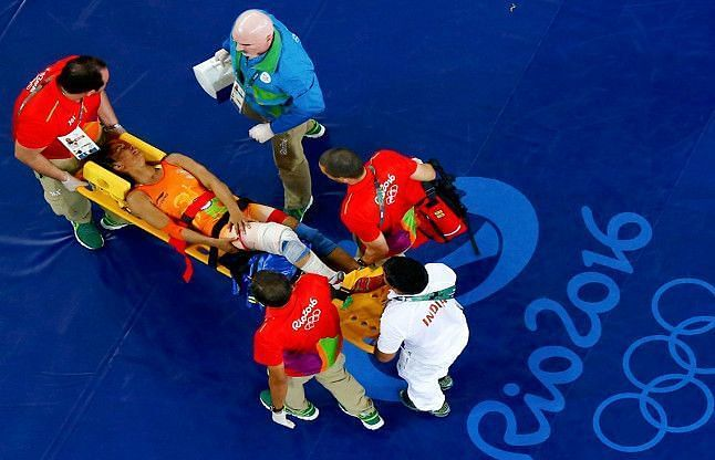 An injury forced Vinesh to miss out on a podium finish at Rio 2016