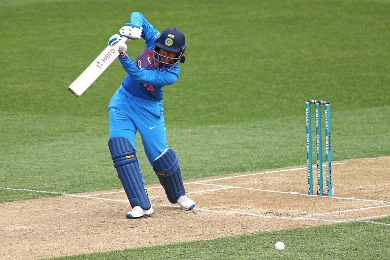 India opener Smriti Mandhana caressing a drive through the off