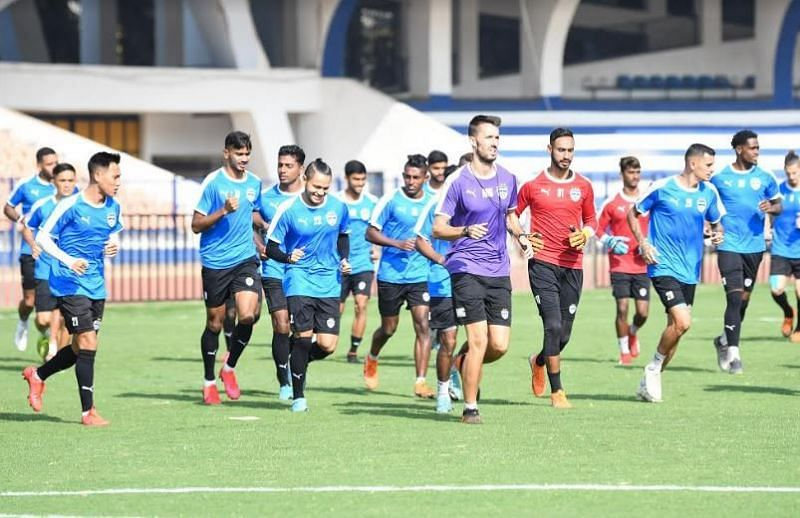 Bengaluru FC players during a training session