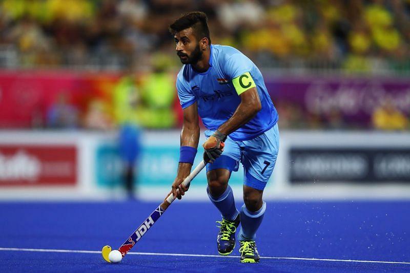 The Indian captain Manpreet Singh