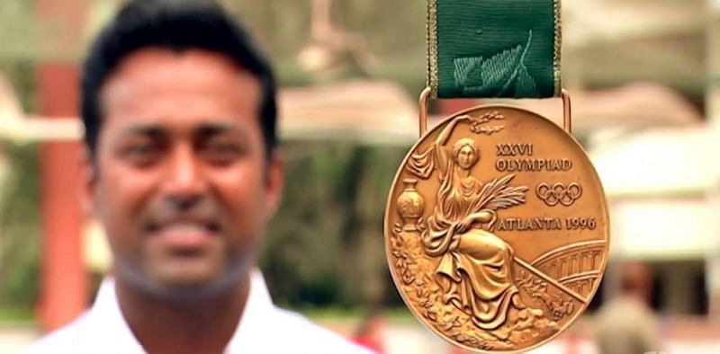 L eander Paes won the bronze in Atlanta 1996