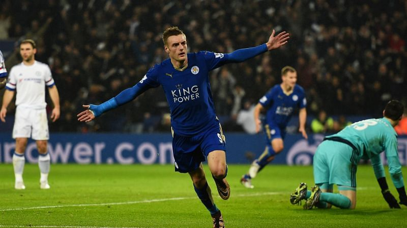 Jamie Vardy scored 13 goals in a streak stretching 11-matches from August to November 2015