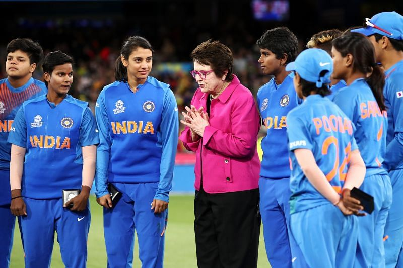 Indian team at the final of the ICC Women