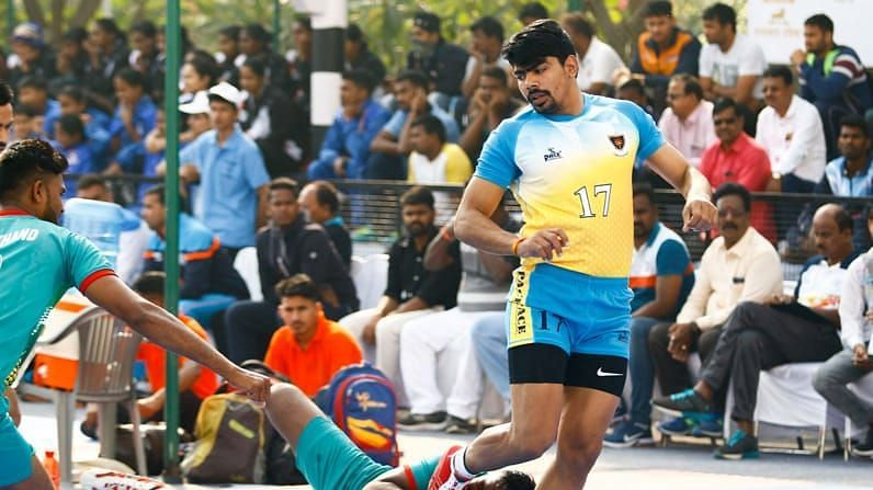 Pawan Sehrawat in action for Indian Railways