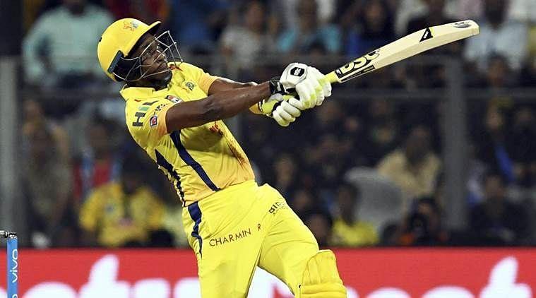 चेन्नई सुपर किंग्स के आलराउंडर खिलाड़ी ड्वेन ब्रावो