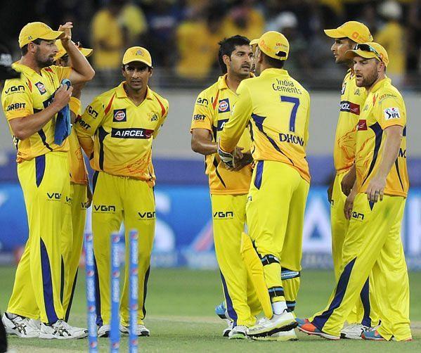 चेन्नई सुपर किंग्स टीम के साथ मोहित शर्मा