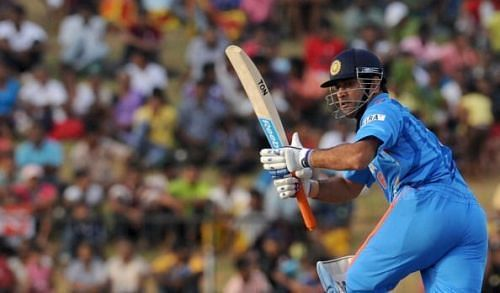 MS Dhoni in action