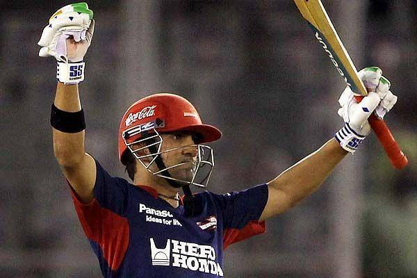 दिल्ली डेयरडेविल्स के बल्लेबाज गौतम गंभीर
