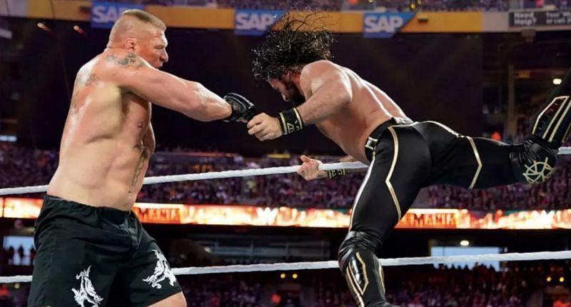 ब्रॉक लैसनर vs सैथ रॉ लिंस