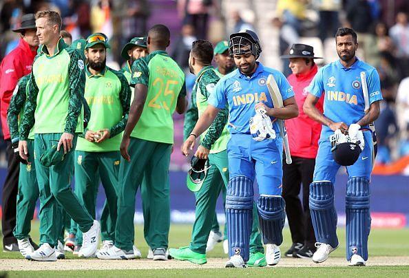 भारत ने वर्ल्ड कप 2019 में दक्षिण अफ्रीका को हराया था