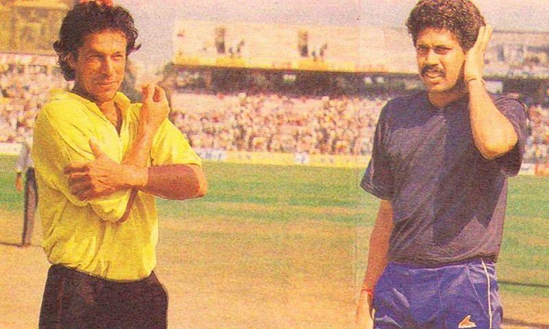 Imran Khan and Kapil Dev