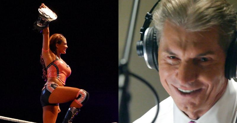 Eve Torres and Vince McMahon.