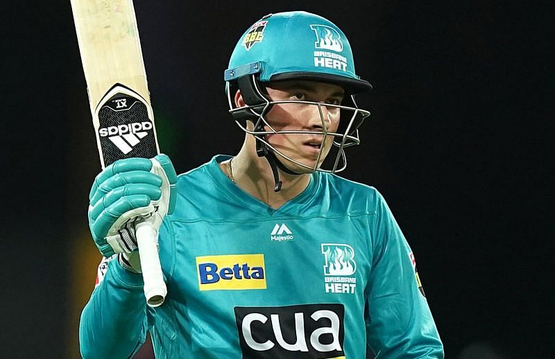 Tom Banton playing for the Brisbane Heat in the BBL