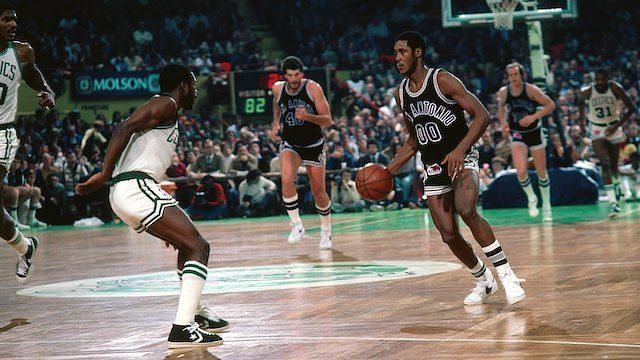 Johnny Moore led the league in assists in 1982 for the Spurs