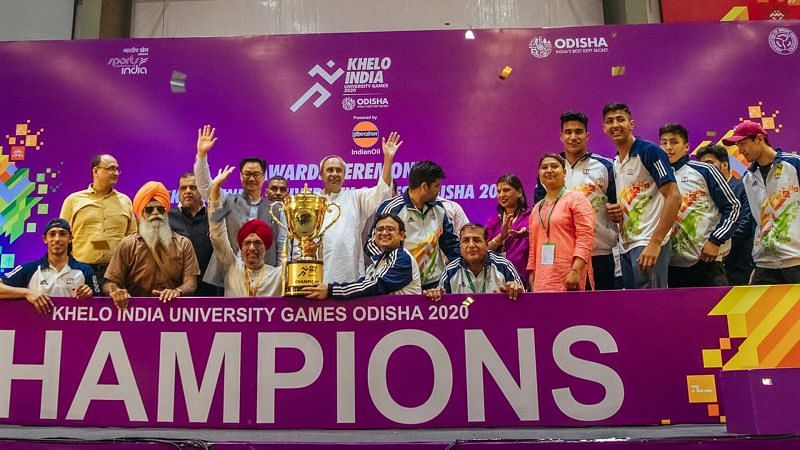 Panjab University became the inaugural champions of the Khelo India University Games 2020
