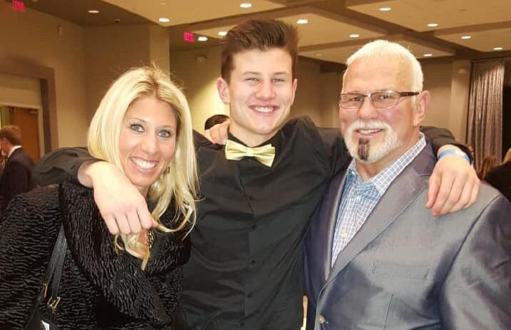 Scott Steiner with his family