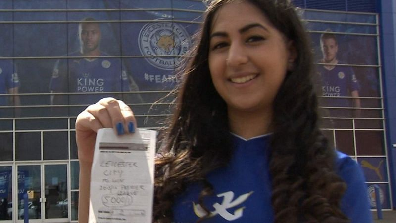Leicester fan Karishma Kapoor put a £2 bet on her club when they were rank outsiders at 5000-1