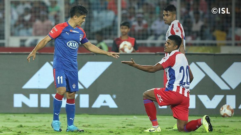 Sunil Chhetri and Pritam Kotal