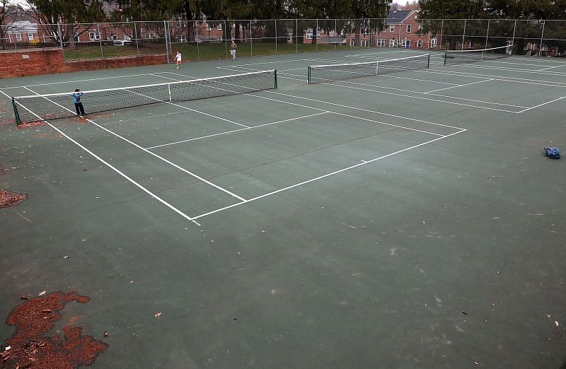 Desolation has hit the tennis courts as well.
