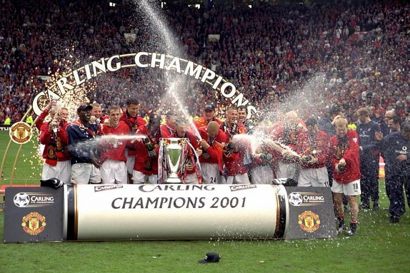 Manchester United lifted the Premier League title for the third season in a row.