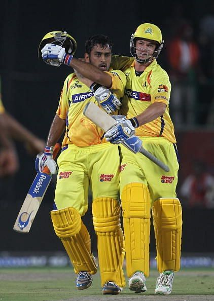 MS Dhoni (left) and Albie Morkel (right)