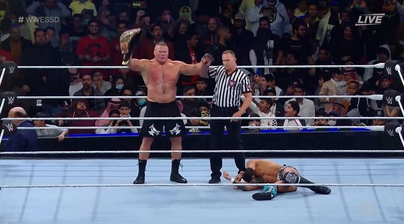 Brock Lesnar destroyed Ricochet at Super ShowDown