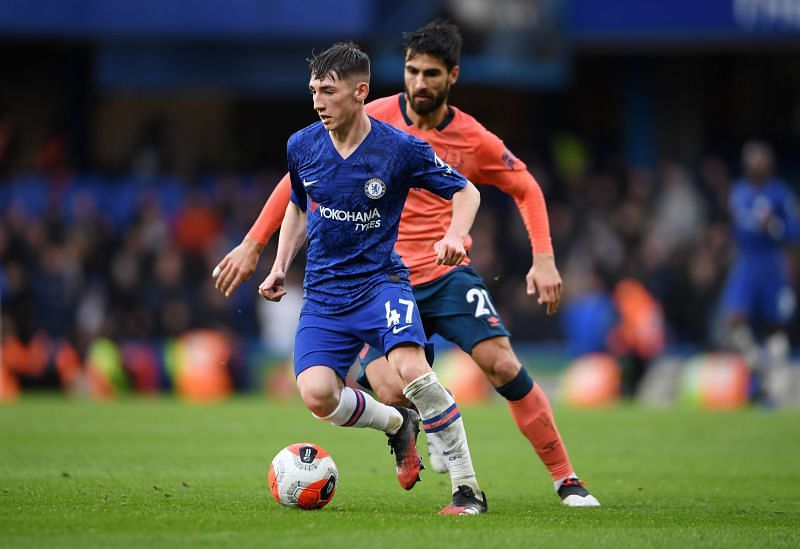 Billy Gilmour in action against Everton