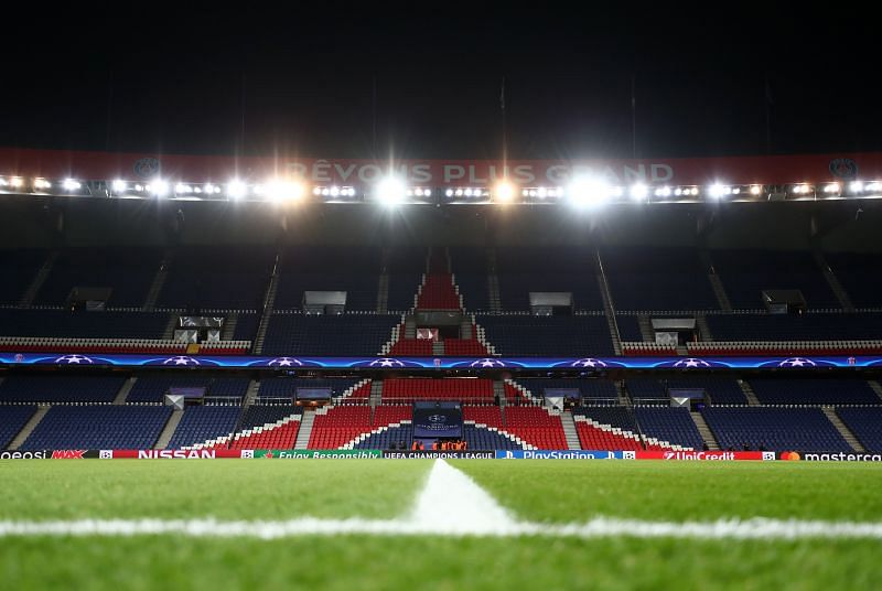 The Champions League encounter at the Parc des Princes is set to be played behind closed doors