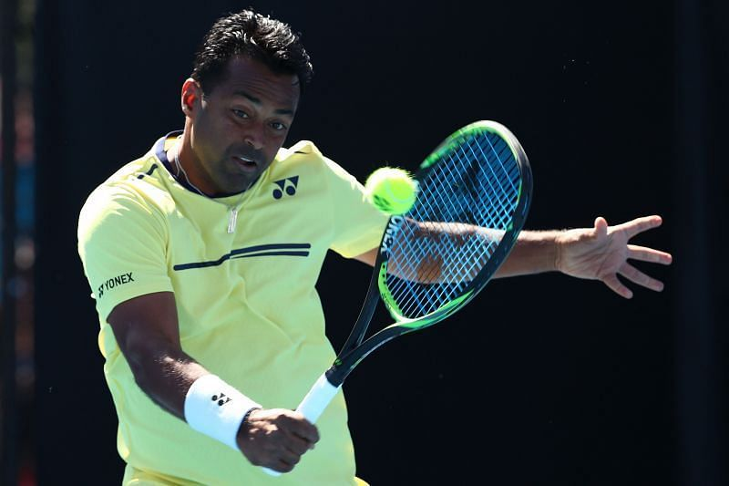 Leander Paes won both his singles encounters
