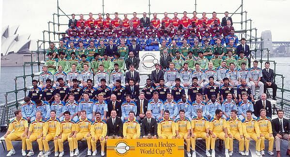 Players of all the 9 nations that participated in the 1992 World Cup.