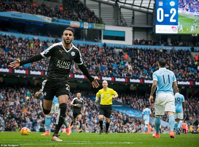 Riyad Mahrez was absolutely on top of his form against Manchester City