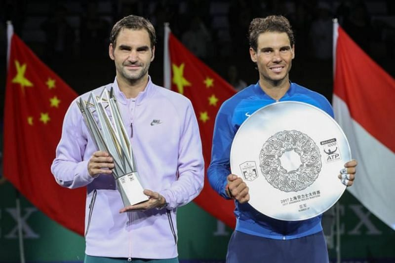 Federer lifts his second Shanghai title in 2017.