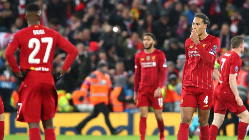 Liverpool players walk-off in dejection as Atletico Madrid beat them at Anfield 2-3