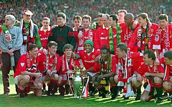 Manchester United were crowned champions in the inaugural Premier League season in 1992-93.