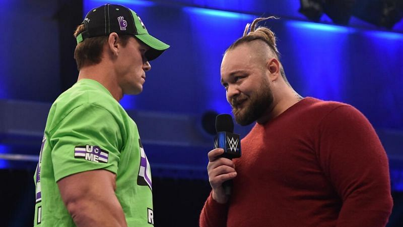 John Cena went face-to-face with Bray Wyatt on SmackDown