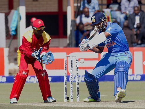 Binny in action against Zimbabwe