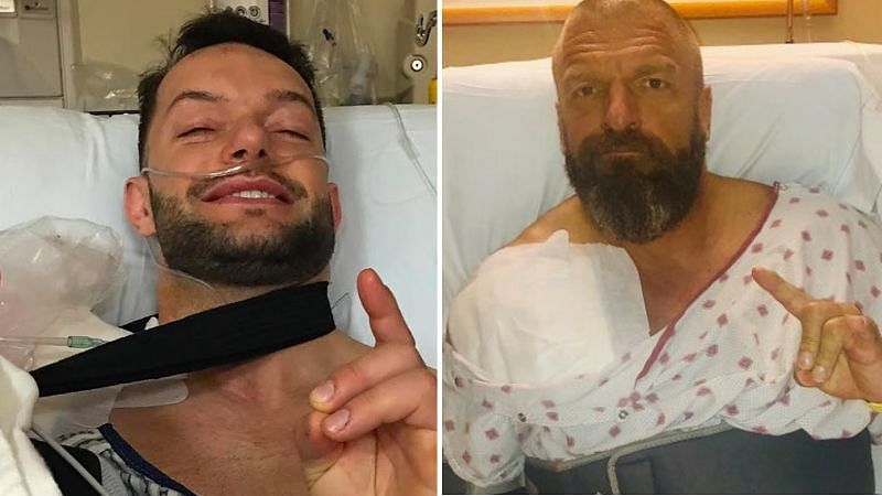 Triple H and Finn Balor recovered in a few months after getting injured in the ring