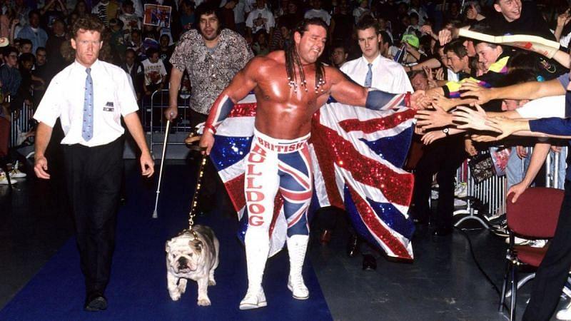 The British Bulldog with Matilda, a... er... British bulldog.