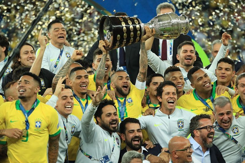 Brazil with the Copa America 2019 trophy