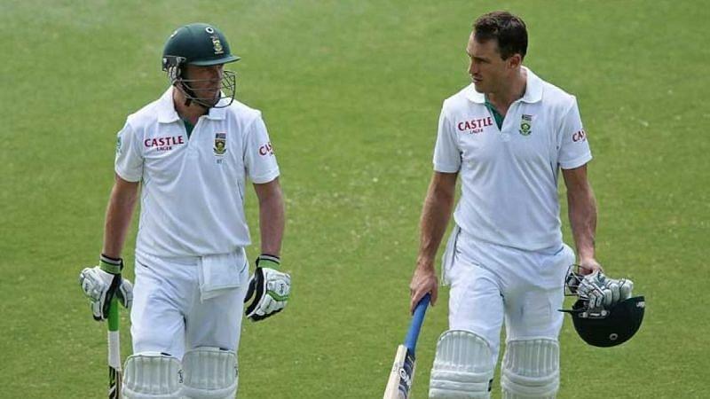 Marathon defensive innings from both AB de Villiers (left) and Faf du Plessis AB de Villiers
