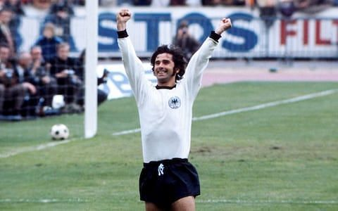 Gerd Muller helped West Germany to victory at Euro 1972
