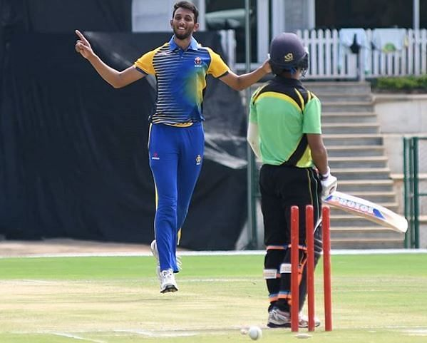 Prasidh finished as the highest wicket-taker for Karnataka in the 2018 Vijay Hazare Trophy