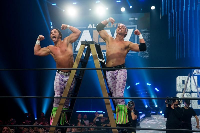 The Young Bucks were the target of a challenge on social media