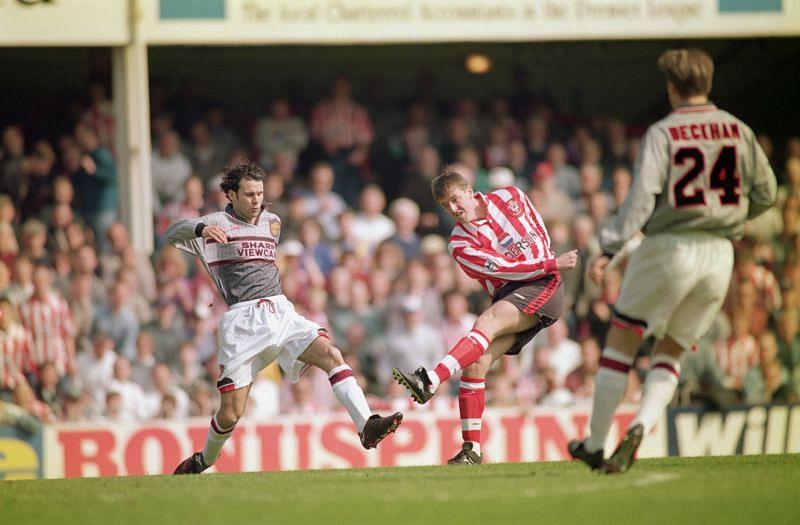 Matt le Tissier in action for Southampton.