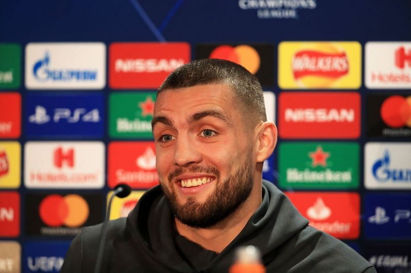 Mateo Kovacic addresses the media before a Champions League tie