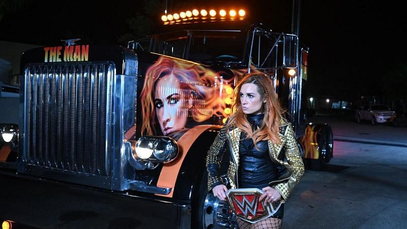 Becky Lynch entered the WWWE Performance Center in style