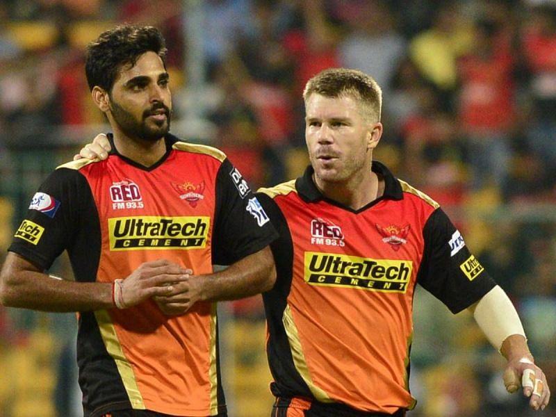 वॉर्नर और भुवनेश्वर दोनों ने ही सनराइज़र्स हैदराबाद की कप्तानी की है
