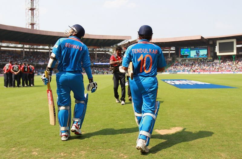 Tendulkar and Virender Sehwag formed a scintillating opening pair in ODIs for India.